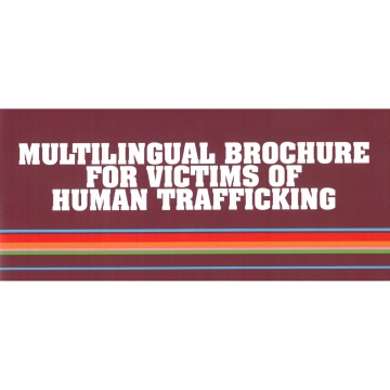 Multilingual brochure for victims of human trafficking
